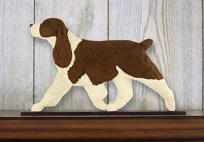 English Springer Spaniel Dog Figurine Sign Plaque Display Wall Decoration Liver