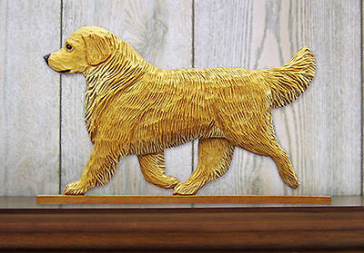 Golden Retriever Dog Figurine Sign Plaque Display Wall Decoration Light