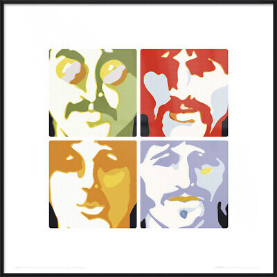 """THE BEATLES - FRAMED ART PRINT / POSTER (SEA OF SCIENCE) (SIZE: 16"""" x 16"""")"""