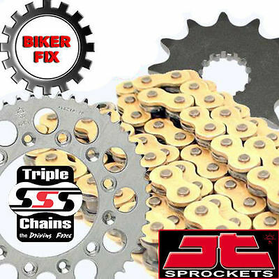 HONDA CB550 F1,F2,K3 75-80 GOLD Kit Heavy Duty O-Ring Chain and Sprocket