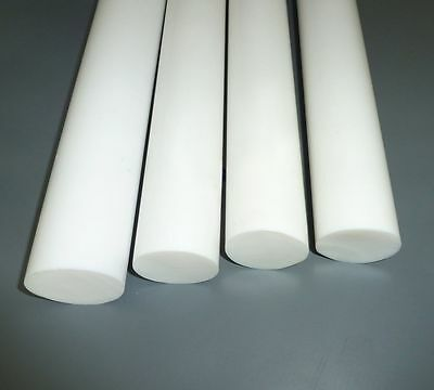 PTFE Rod Natural Virgin Round Bar TEFLON White Diameter Engineering Plastics