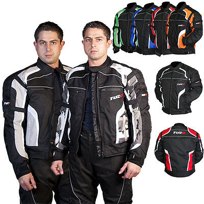 Tuzo Terrain Mens Motorcycle Motorbike Summer Waterproof Sports Textile Jacket