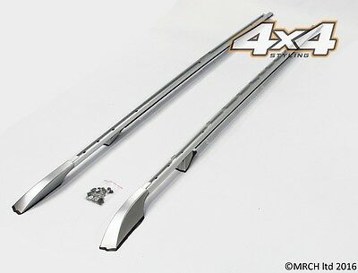 For Land Rover Discovery 3 & 4 Extended Silver Roof Rails Set