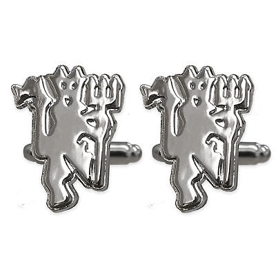 Manchester United FC Official Football Gift Chrome Executive Cufflinks