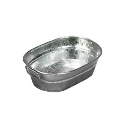 American Metalcraft - MTUB69 - 9 in x 6 in Oval Galvanized Tub