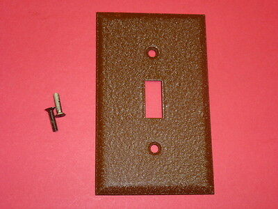 25 Nos! Single Gang Brown Crackle Finish Wall Toggle Switch Plates