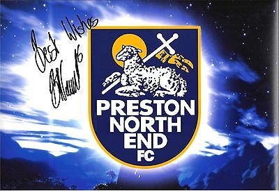 A 12 x 8 inch photo personally signed by Bailey Wright of Preston North End.