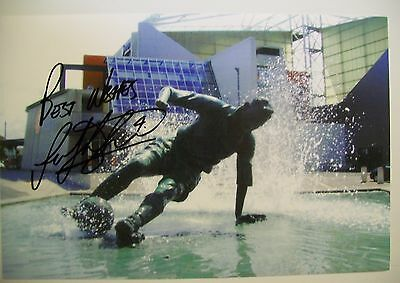 A 12 x 8 inch photo personally signed by Paul Huntington of Preston North End.