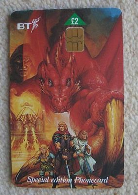 BT Phone Card Dragons of Summer Flame £2.00 USED