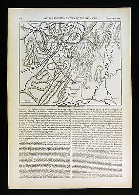 Harper's Civil War Map - Siege of Knoxville Tennessee Batteries Forts Positions