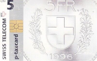 Switzerland - Phone Card P-Taxcard Ptt - 5Fr -1996 - Fr. 5