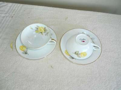 2 Cotillion by Japan Cups & Saucers Yellow Roses