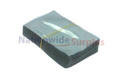 """200 Anti-Static Shielded Bags 4 x 6"""" open, for 2.5"""" Hard Drives Cellphone iPhone"""