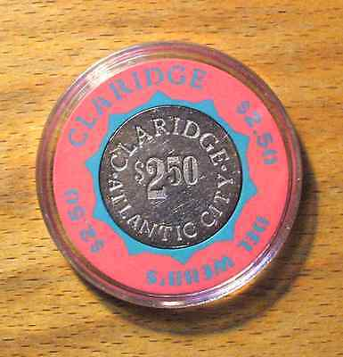 $2.50 Claridge Hotel Casino Chip - Atlantic City, New Jersey - Bud Jones