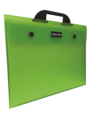 A3+ Design Folio Green Carry Case File Folder Artist Portfolio School College