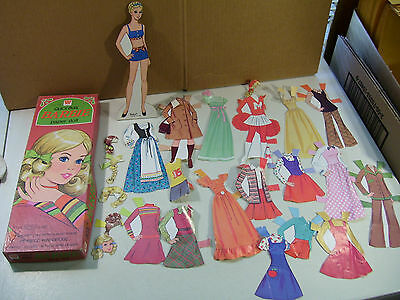 Vintage Quick Curl Barbie Paper Doll With Clothes & Box 1975 Whitman