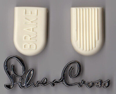 New Long Life Brake Pads Rubbers For Silver Cross Tenby Coach Pram Freepost