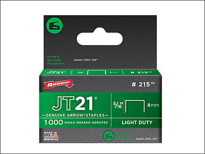 ARROW JT21 - T27 STAPLES - PACKS OF 1000 - All Sizes For JT21/21C Staple Gun