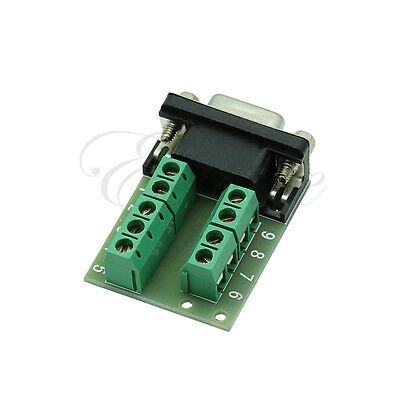 Serial RS232 to Terminal DB9 Female Adapter Connector Signals Terminal Module