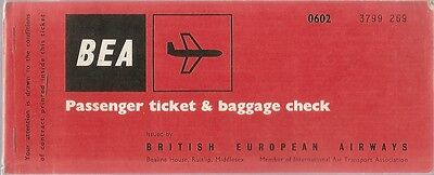 Airline Ticket - BEA - 2 Flight - 1965 (T263)