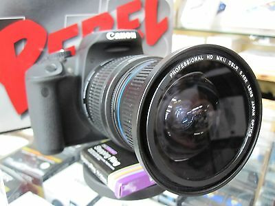 Ultra Wide Angle Macro Fisheye Lens for Canon Eos Digital Rebel T6 i SL1 T5 XTi