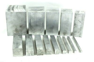 Aluminium Solid Square Bar 14 Pre Cut Sizes and 11 Pre Cut Lengths