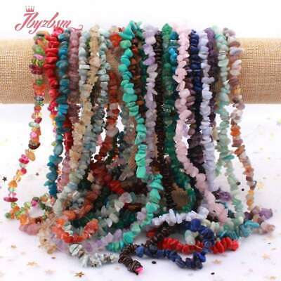 """4-6&6-8mm Freeform Gravel Chip Gemstone For DIY Jewelry Making Spacer Beads 16"""""""