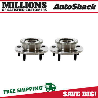 New Pair of (2) Front Hub Bearing Assembly Set fits 2000-2001 Dodge Ram 1500