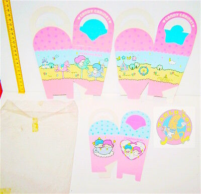 LITTLE TWIN STARS 1983 Sanrio Japan lot 3 Candy Cabinet  - 3 scatole per dolci