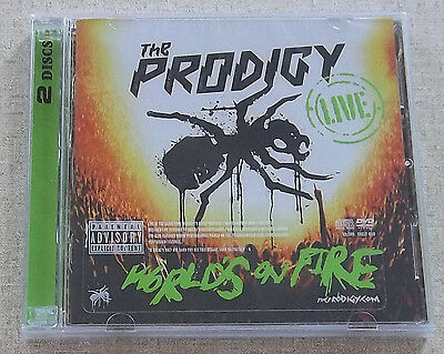 THE PRODIGY Live - World's On Fire CD + DVD SOUTH AFRICA Cat# SHELT 050 Rare!