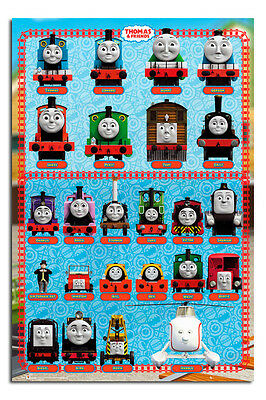 Thomas The Tank Engine And Friends Characters Poster New