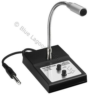 Paging PA Microphone Desk Mic with Gooseneck 6.35mm Tannoy Push To Talk