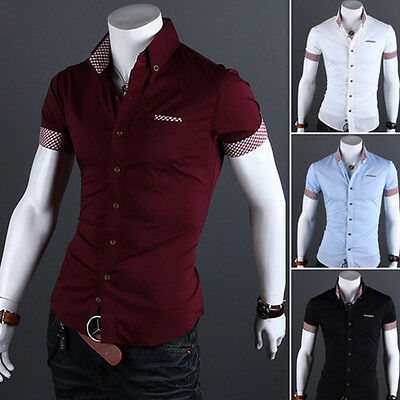 Fashion Men's Slim Fit Casual Polo Shirt T-Shirt Short Sleeve Tees Tops