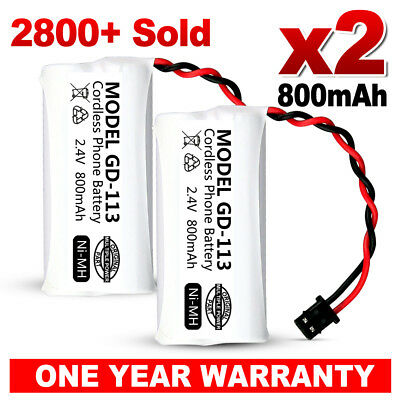 OZ NEW Cordless Phone Battery 2 PCS For Uniden BT-694, BT-694S Ni-MH 800mAh 2.4V