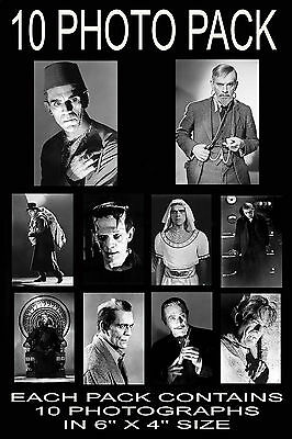 "6""x4"" PHOTOGRAPHS - PACK OF 10 - BORIS KARLOFF"