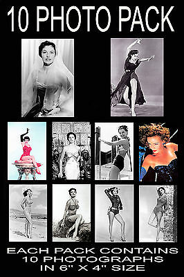 """6""""x4"""" PHOTOGRAPHS - PACK OF 10 - CYD CHARISSE"""