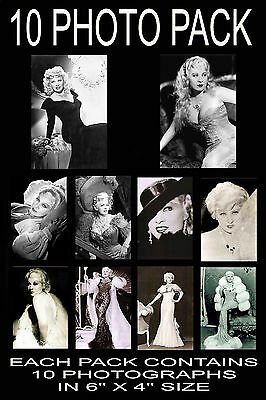 """6""""x4"""" PHOTOGRAPHS - PACK OF 10 - MAE WEST"""
