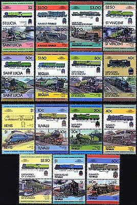 LNER LONDON & NORTH EASTERN RAILWAY Collection GB Train Stamps (Loco 100)