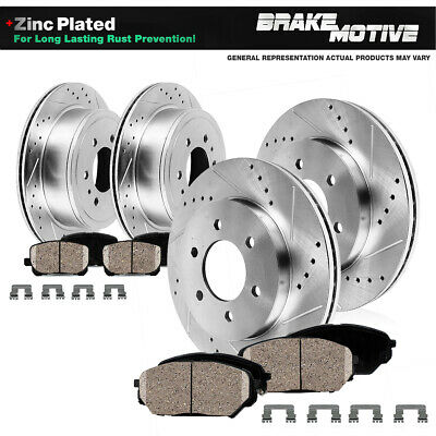 For 2012-2017 Ford Focus Full Kit PBR AXXIS Drill//Slot Brake Rotors+Ceramic Pads