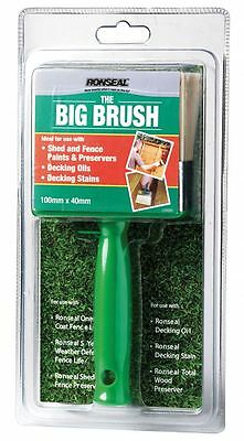 RONSEAL THE BIG BRUSH FENCE PAINT SHED DECKING BRUSH - 100MM x 40MM