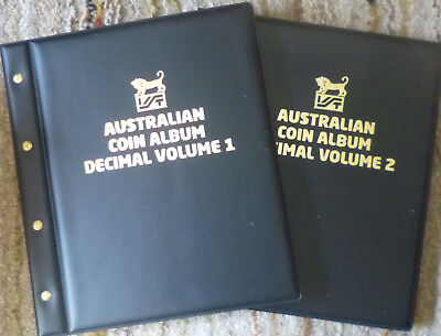 VST AUSTRALIAN DECIMAL COIN ALBUM 1966 to date with DETAILED MINTAGES SHEETS