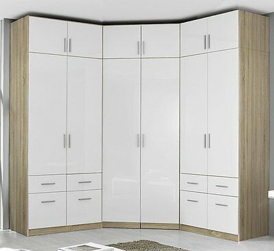 kleiderschrank eckkombination eckschrank mit aufsatz. Black Bedroom Furniture Sets. Home Design Ideas