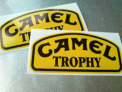 CAMEL TROPHY All Jeep 4x4 & Land Rover Fans Decals Stickers 2 off 150mm