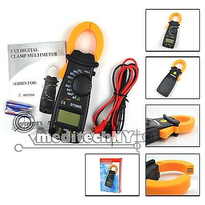 New! Portable AC DC Voltage LCD Mini DIGITAL Clamp Multimeter Electronic Tester