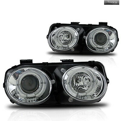Premium Pair Projector Head Lights Fit 98-01 Acura Integra Front Lamp-Clear Lens