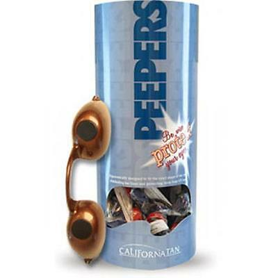 California Tan Peepers Elastic Full Eye Uv Sun Bed Tanning Goggles - 1 Pair