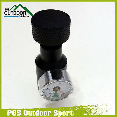 Paintball Co2 Fill Adaptor Remote On/Off 1500psi Gauge