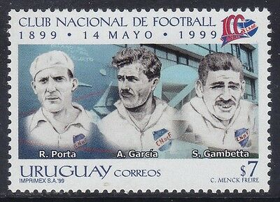 Uruguay 1999 - Centenario National Football Club - P. 7 - Mnh (3)