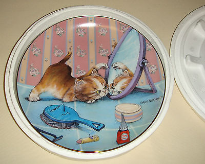 GARY PATTERSON Comical Cats Fabulous Kitten Admires Himself THE INTRUDER Plate