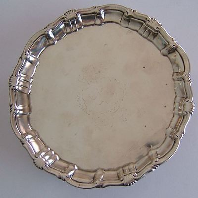 ANTIQUE GEORGE II, ENGLISH STERLING SILVER TRAY, RICHARD RUGG LONDON c1756